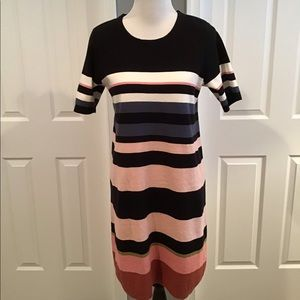 Ann Taylor Striped Sweater Dress
